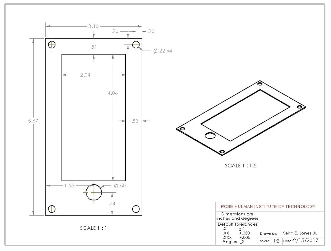 Iphone 5s Case Noah Severyn 4 Screws Diagram Using Blueprints Found Online For The Plastic Insert Center Drawing Was Created A Cut Made Along Each Long Edge To Allow Landing